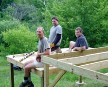 Eric, Peter & Dider on new tent platform