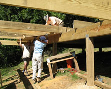 laying joists & plywood